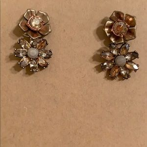 Chloe + Isabel Jewelry - NEW! Two Rose Gold Pink Jade Flower Earring Studs